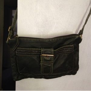 Handbags - Dark Forest Faux Leather Crossbody Bag Purse